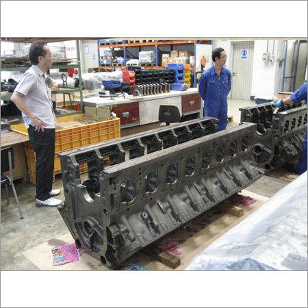 Diesel Marine Engine Block