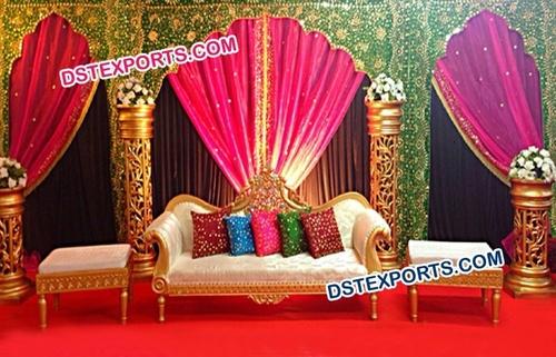 Temple Shape Wedding Embrodried Backdrop