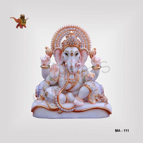Marble Sitting Ganesha