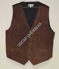 Brown Leather Waist Coat