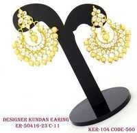 Kundan Earrings Chandballis