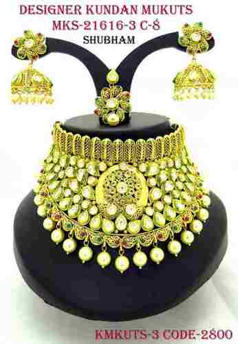 Kundan Mukut Necklace Set