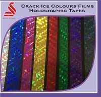 Crack Ice Hologram Colour Films Tapes