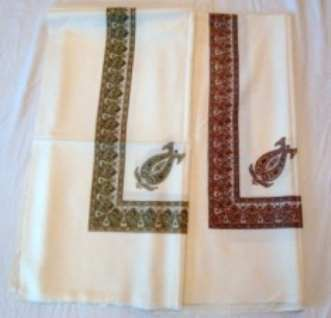Polywool Embroidery  Scarves