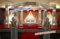 White Fibre Wedding Mandap