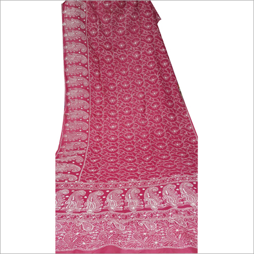 Chikan Embroidery Stone Work Georgette Sarees