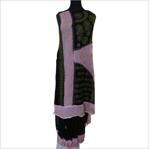 Chikan Embroidery Georgette Saree