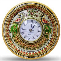 Peacock Design Round Clock