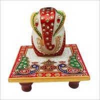 Peacock Design Ganesh Chowki
