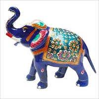 Elephant With Meenakari Work