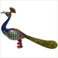 Peacock With Meenakari Work