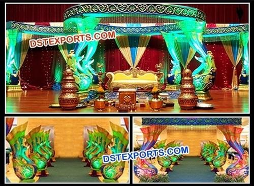 Full Peacock Mandap Set For Wedding