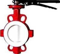 pfa lined butterfly valve