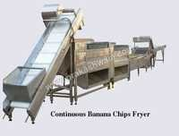 Continuous Banana Chips Fryer