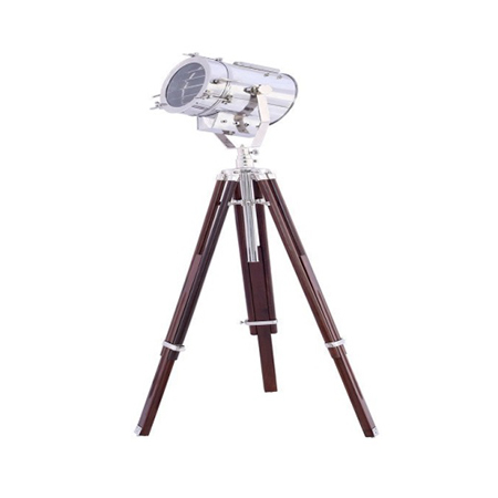 Nautical Chrome Spot Search Light With Tripod Stand