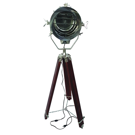 Hollywood Marine Spot Search Light With Wooden Tripod Stand