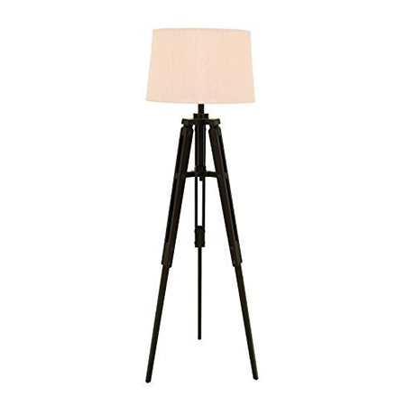 Floor Lamp With Teak Wooden Tripod Stand