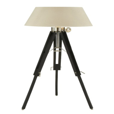 Floor Lamp With Black Tripod Stand