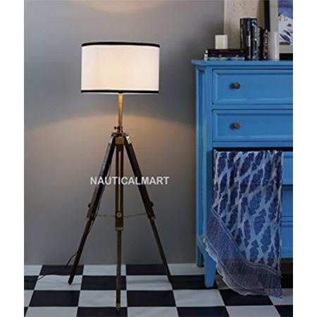 Vintage Wooden Floor Lamp Stand