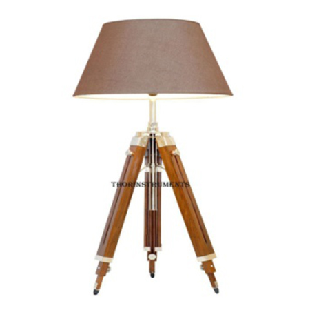 Nautical Sheesham Wood Tripod Floor Lamp Stand