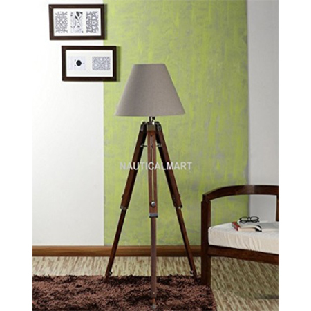 Floor Lamp Teak Wood Solid Lamp Stand