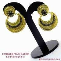 ANTIQUE DESIGNER POLKI EARRING