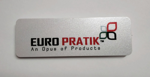 PVC Metallic Silver Name badge