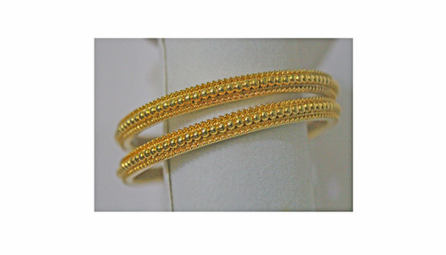 GOLD PLATED BEAD BANGLES