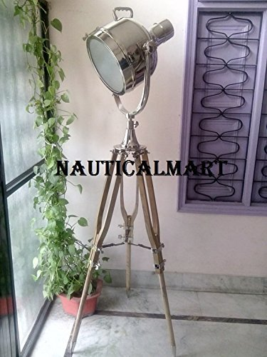 Replica Designer Nickel Finish Tripod Floor Lamp For Living Room