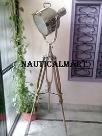 Replica Designer Nickel Finish Tripod Floor Lamp For Living Room