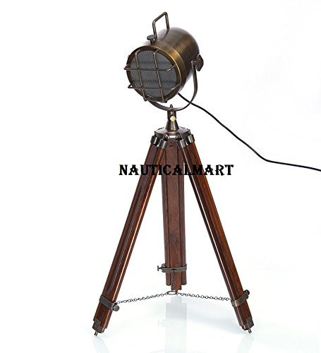 Antiques Trustful Industrial Studio Designer Nautical Searchlight Tripod Floor Lamp Spot Light High Safety
