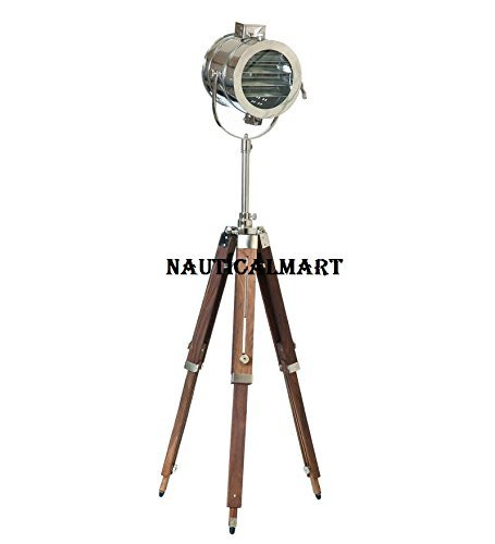 Replica Designer Chrome Search Light Spotlight With Tripod Lamp Stand