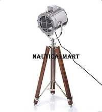 Replica Spot Searchlight Studio Floor Lamp With Brown Tripod Stand