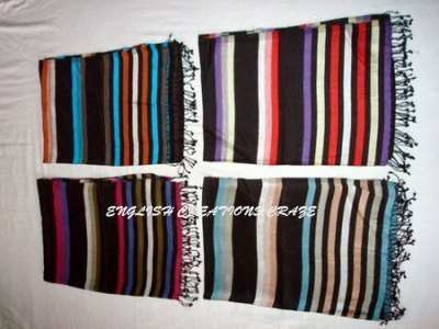 Viscose Woven Stripes scarves