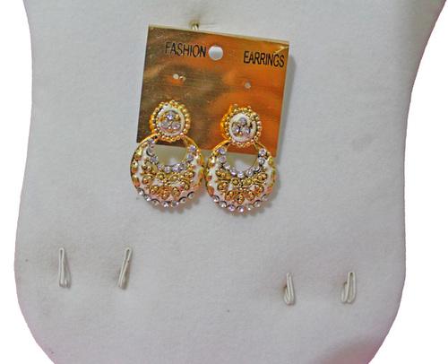 White & Yellow Earrings