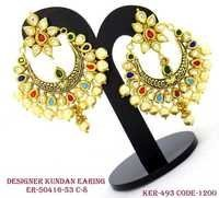 DESIGNER KUNDAN VILANDI EARRINGS