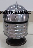 Medieval Knight Crusader Armor Steel Helmet