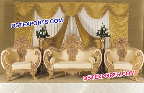 Golden Regal Design Furniture Set For Vivah