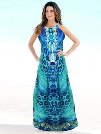 Digital Printed Beach Chiffon Kaftan