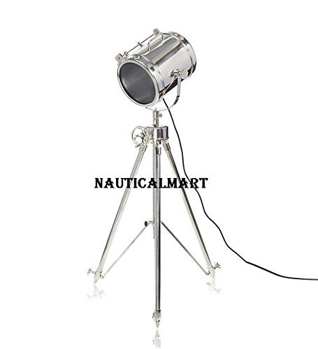 Designer Theater Search Light  With Adjustable Tripod Floor Stand- Chrome Finish