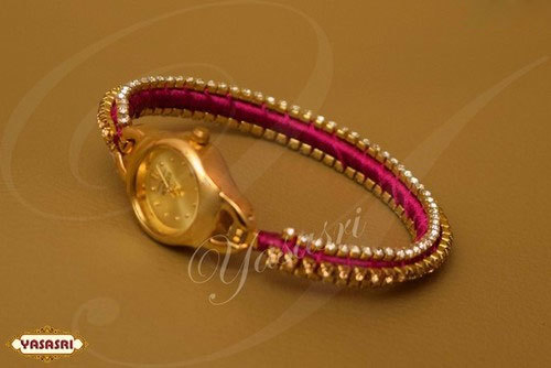 Pink threaded watch