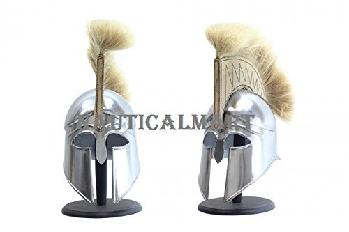 Medieval Royal Armor Helmet with Plume (Set Of two)