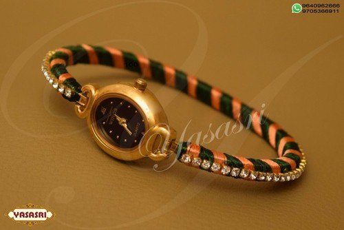 Double color threaded watch