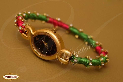 Ruby Green Threaded Watch