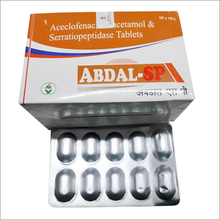 Aceclofenac Paracetamol & Serratiopeptidase Tablet