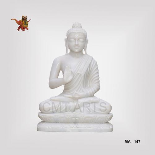 Marble Sitting Buddha / Marble Buddha