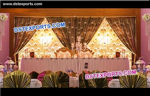 Leather Panel Wedding Stage