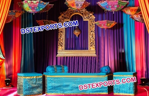 Mehandi Stage Decoration For Wedding