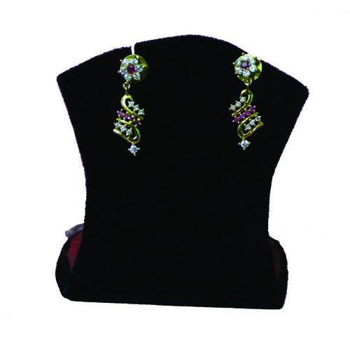 Red Stone Earrings
