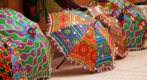 Luxury Printed Umbrella Decoration